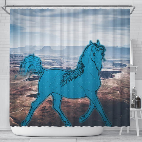 Anglo Arabian Print Shower Curtains-Free Shipping