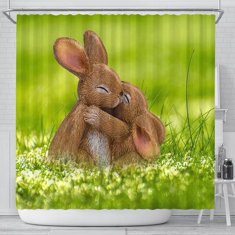 Cute Easter Bunny Print Shower Curtains-Free Shipping