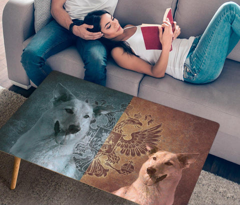 Chinook Dog Print Rectangular Coffee Table