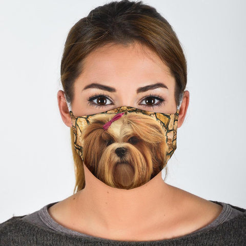 Cute Lhasa Apso Print Face Mask