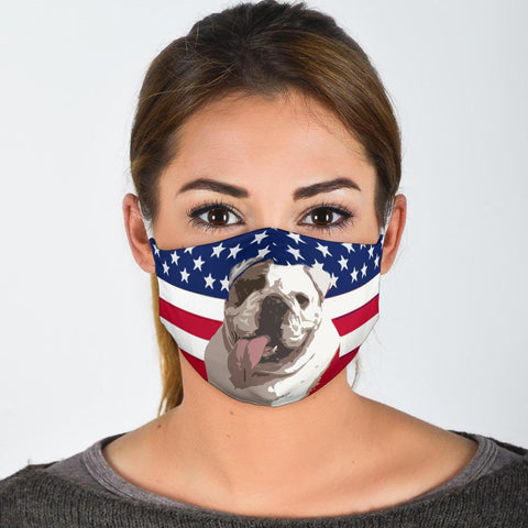 Bulldog US Flag Print Face Mask