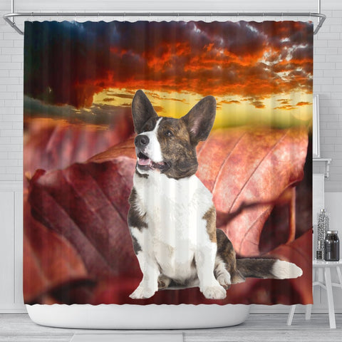 Cardigan Welsh Corgi Print Shower Curtains-Free Shipping