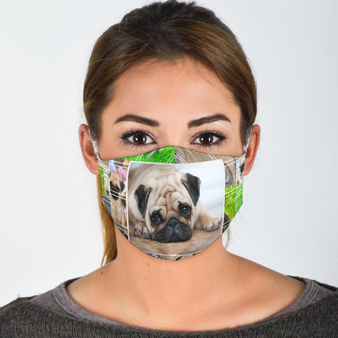 Pug Dog Print Face Mask