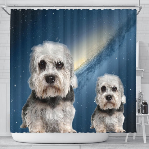 Dandie Dinmont Terrier Print Shower Curtains-Free Shipping