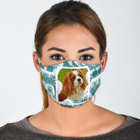 Cavalier King Charles Spaniel Print Face Mask