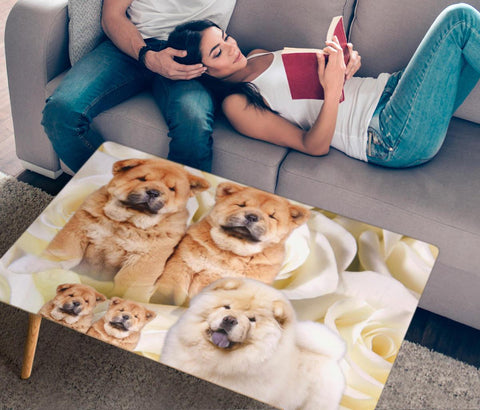 Chow Chow Print Rectangular Coffee Table