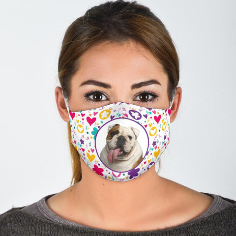 Cute Bulldog Print Face Mask