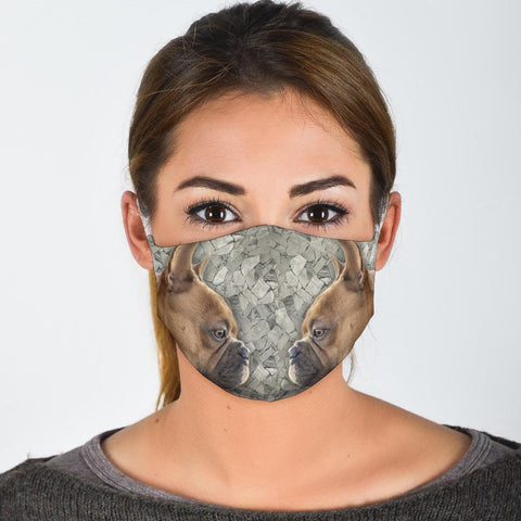 French Bulldog Print Face Mask