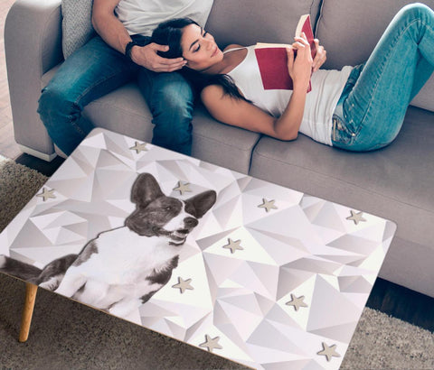 Cardigan Welsh Corgi Print Rectangular Coffee Table