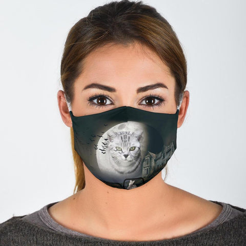 Cute European Shorthair Cat Print Face Mask