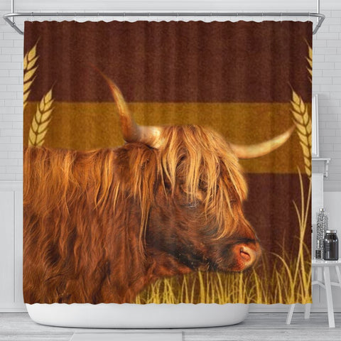 Highland Cattle (Cow) Print Shower Curtain-Free Shipping