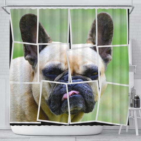 French Bulldog Spread Print Shower Curtains-Free Shipping