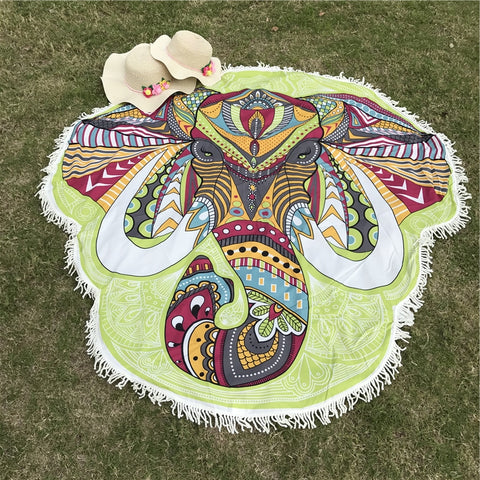 Ganesha Elephant Head Beach Blanket