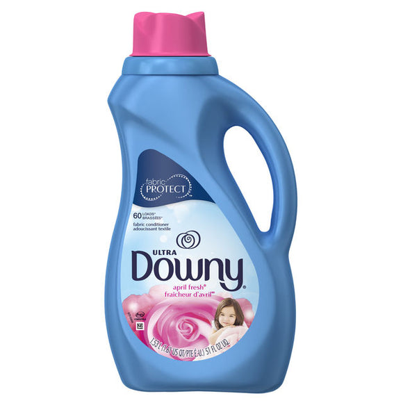 Downy Ultra Liquid Fabric Conditioner (Fabric Softener), April Fresh, 60 Loads 51 fl oz