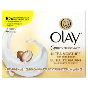 Olay Moisture Outlast Ultra Moisture Shea Butter Beauty Bar 90 g/3.17 oz, 4 count