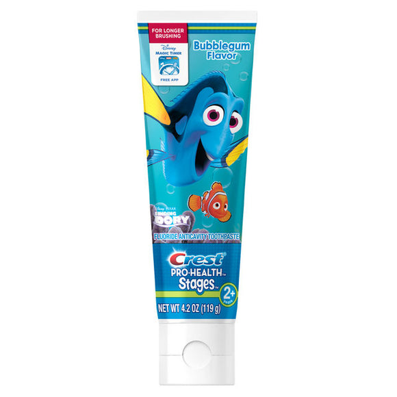 Crest Pro-Health Stages Kids Toothpaste featuring Disney's Finding Dory, Bubblegum Flavor, 4.2 oz