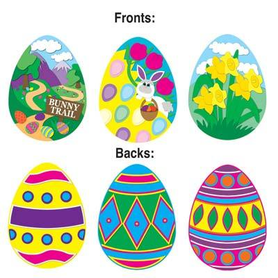 Easter Egg Cutouts 14in (12pcs)