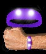 Fun Central AJ672 LED Light Up Motion Activated Wristband - Purple