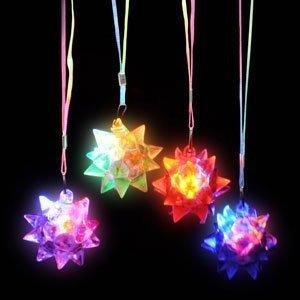 LED Star Ball Necklace Assorted Colors 12pcs