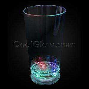 Fun Central N099 LED Light Up Flashing Pint Glass - Multicolor