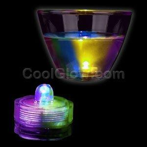 Fun Central AI329 LED Light Up Submersible Waterproof Deco Light - Multicolor - 12pcs
