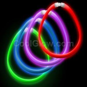 "Fun Central AC891 22"" Super Wide Glow Necklaces - Assorted - 45 pcs"
