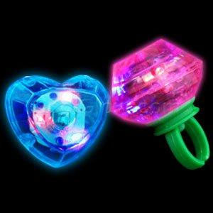Fun Central (M765) LED Jumbo Gem Rings - Assorted 24pcs