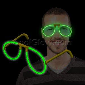 Fun Central P82 Glow in the Dark Eye Glasses - Green