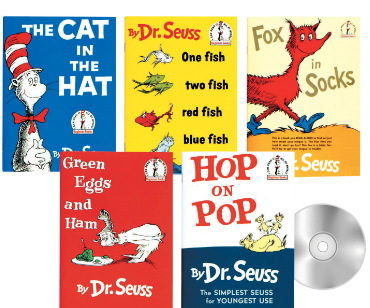 Childcraft Dr. Seuss Read-Along Set, 5 Books and 5 CDs