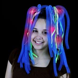 Fun Central X731 LED Light Up Party Dreads - Multicolor