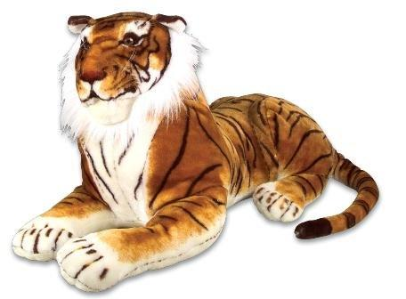 One Giant Jumbo Laying Position Plush Stuffed Realistic Tiger - 36
