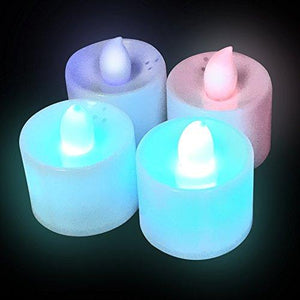 Fun Central LED Tea Light Candles Multicolor - 4 Pack