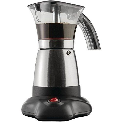 Brentwood Appliances TS-118S Stainless Steel Moka Espresso Coffee Maker, Black