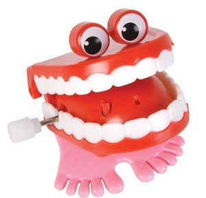 Chattering / Chomping Wind up Toy Walking Teeth with Eyes - 2 Pack