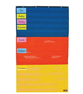 School Smart Adjustable Pocket Chart - 3 Sections