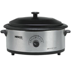 6-Quart Nonstick Roaster Oven Color: Stainless Steel