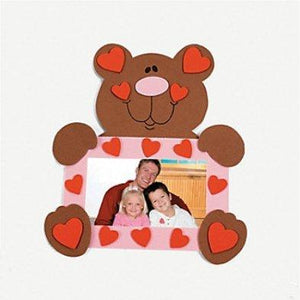 6 Foam Bear Picture Frame Magnet Craft Kit