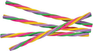 Assorted Color Spiral Rope Erasers (12)