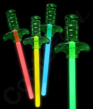 Fun Central O050 Glow Sword - Assorted Colors - 4 Count