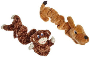 Abilitations Integrations - Stretchy Pets - Stretchable Dog and Monkey Doll - Set of 2