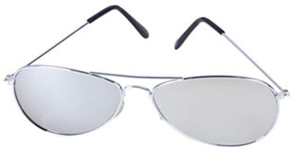 Aviator Sunglasses With Chrome One Way Mirror Lens and w/ 400 UV Protection