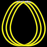 Fun Central J3 22 Inch Premium Glow Stick Necklaces Yellow - 50 Count