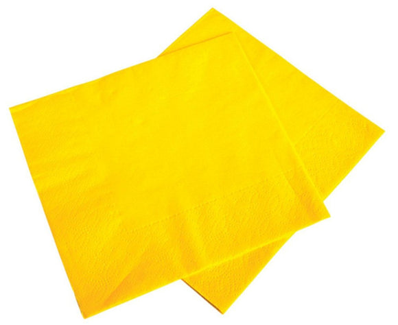 Lot Of 50 Yellow Lunch Party Decoration Paper Napkins - 6.5