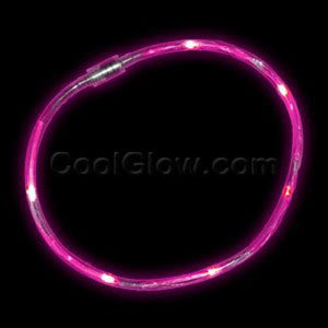 Fun Central X822 LED Light Chaser Necklace - Pink