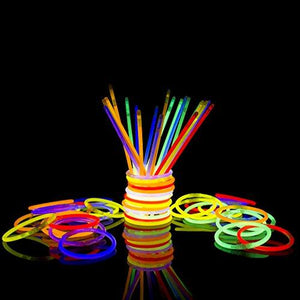 Fun Central AS406 Glow sticks Glow Stick Bracelets Assorted Colors, Tube of 300