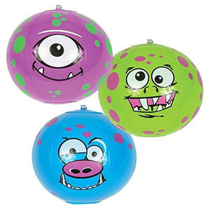 "Rhode Island Novelty 7"" Mini Monster Inflatable Beach Ball (12 Piece Per Order)"