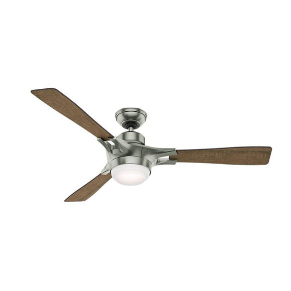 Hunter 59224 Signal Ceiling Fan with Wifi Capability, works with Amazon Alexa, Large, Satin Nickel