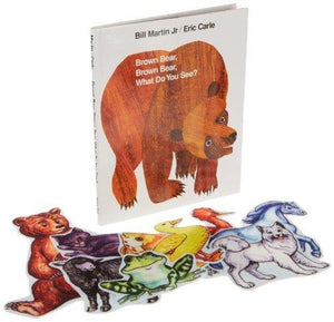 Childcraft Brown Bear Storytelling Set with 9 Felt Pieces
