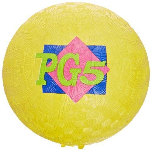 School Smart Playground Ball - 5 inch - Yellow