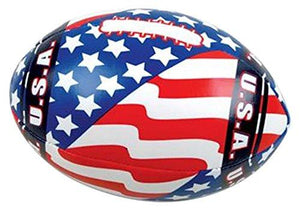 "Rhode Island Novelty 5.5"" Soft Stuff Us Flag Football Toy Activity and Play Balls"
